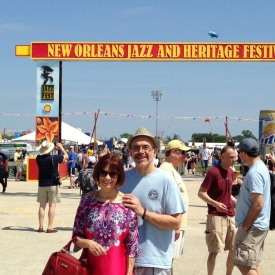 Chris and I in New Orleans for JazzFest 2013