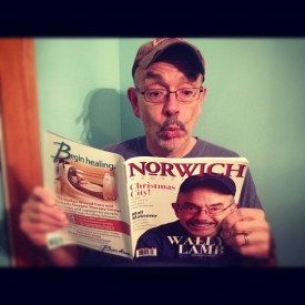 Norwich magazine cover boy