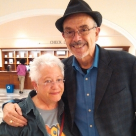 With singer/author Janis Ian in Nashville while on book tour.