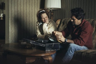 Dominick's mother Connie (Melissa Leo) gives him a suitcase. Inside is a document that holds clues about the family's past.