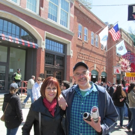 Chris & I take in a home game at Fenway in Boston.