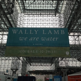At Book Expo America, NY's Jacob Javits Center, HarperCollins raised a WE ARE WATER banner to the roof. It was huge!