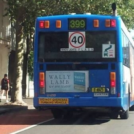 WE ARE WATER goes international: check out the ad on the back of this bus in Australia.