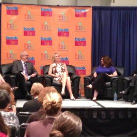 With author Elizabeth Gilbert and others at Book Expo America in NYC