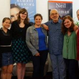 With the HarperCollins audio crew, the nicest folks ever!